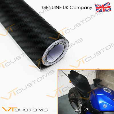 3D Carbon Fibre Vinyl - Sheet Wrap Sticker Film Bubble Free Car Black
