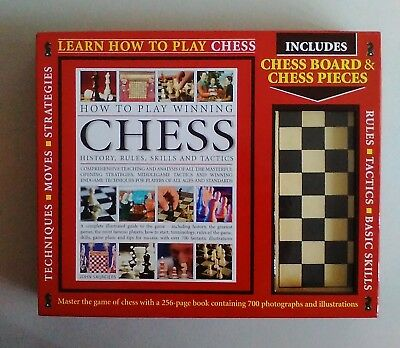 Learn How To Play Chess Book & Set - Inc How to Play Winning Chess John Saunders