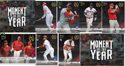 2018 Topps Now Moment of the Year Set (10 cards) MOY1-MOY10 Trout Ohtani Soto