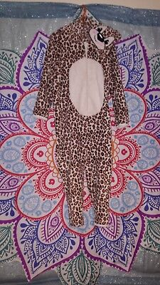 girls age 5-6 all in one leopard suit, dress up used 3 times*