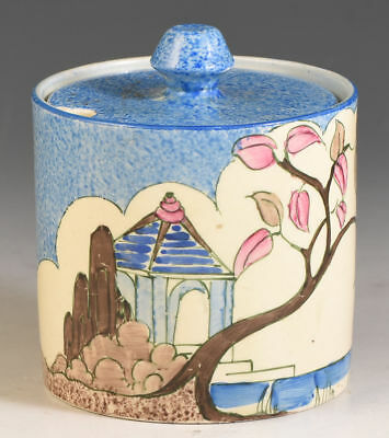 Clarice Cliff BLUE JAPAN DRUM JAMPOT C.1933