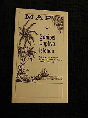 Vintage Travel Brochure  Sanibel & Captiva Islands Florida Map