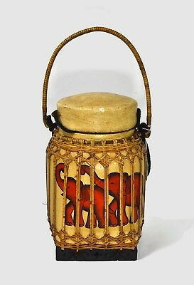 Thailand Wood Container Rice Basket  12 Inch x 7 Inch
