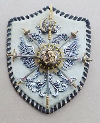 Wall Hanging Shield with TOLEDO Miniature Sword Cocktail Sticks