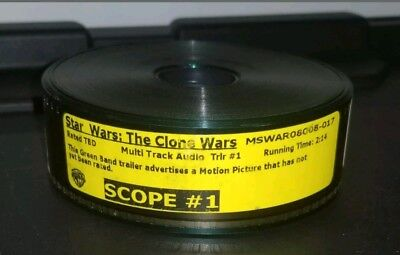 Star Wars the Clone wars Green Band Trailer film reel. 1st Run Not Yet Rated.
