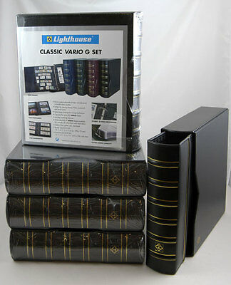 5 *NEW* Lighthouse Black Vario-G Classic Binders