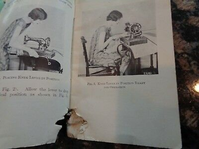 Antique Singer Sewing Machine Instruction Book/no 128-13/knee Control/1925