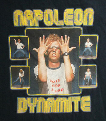 Funny Comedy Napoleon Dynamite Movie Navy Medium T-shirt