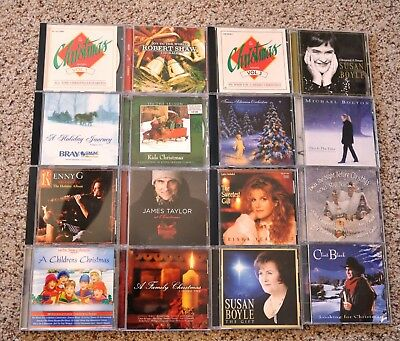 Lot of 16 Christmas Music CDs - Discs Excellent Used Cond