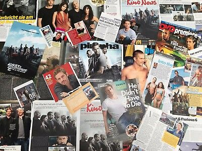 PAUL WALKER SAMMLUNG 50+ Clippings LOT POSTER 2001-18 The Fast & the Furious