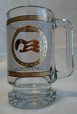 Princess Cruises Mug 16 oz. Glass with Gold Print and Destinations Cup