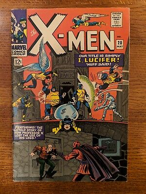 The X-Men #20 (1966, Marvel) Mid To High Grade Professor X Backstory Silver Age