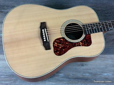 Guild D-240E Dreadnought Acoustic Electric Guitar, Full-Bodied and Powerful Tone