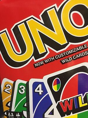 Uno Card Game 112 Playing Cards Indoor Family Children Friends Party Gift Uk Sel
