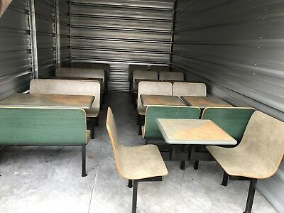 10x Subway Restaurant Plymold Booth Seat Chairs 7x 2 Top, 3x 4 Top Tables