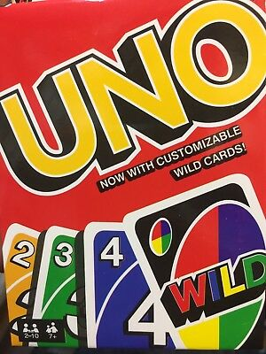 UNO ORIGINAL CARD GAME WITH WILD CARD - Kids Toy Game - 112 cards 2018 UK SELLER