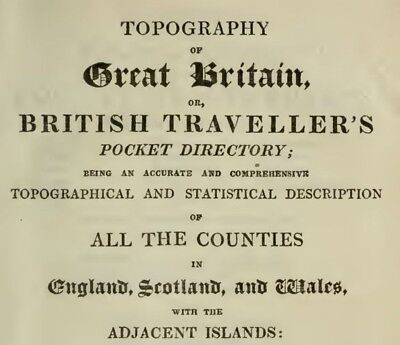Detailed Map Of Great Britain Or British Traveller`s Directory In 26 Volumes