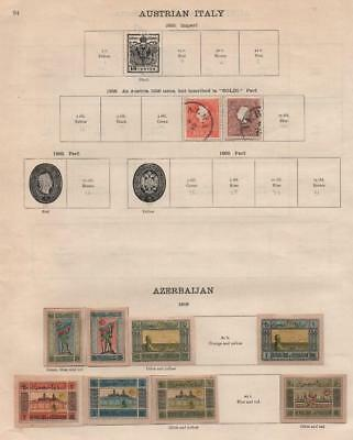 AZERBAIJAN/AUSTRIA: 1919 Examples - Ex-Old Time Collection - Part Pages (20245)