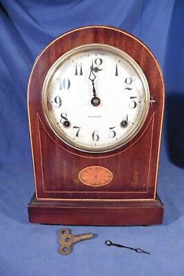 Antique Gilbert Bracket Clock Inlay working but sold for repair