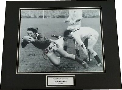 JPR Williams - Wales Rugby Union Signed 10x8 Photo Mounted Autograph Memorabilia