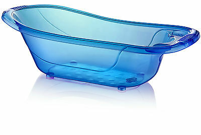 Large 50 Litre Aqua BLUE Clear Transparent Baby Bath Tub