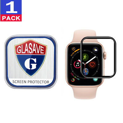 """GLASAVE Apple Watch Series 4 40mm 3D"""" CURVED FULL COVER Tempered Glass"""