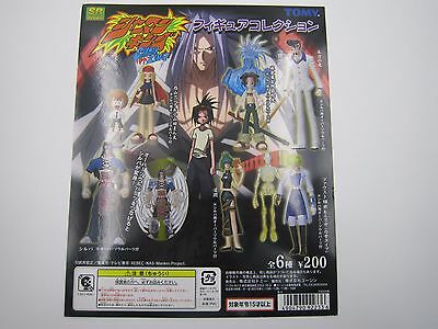 Anime Shaman King Figure Collection Gashapon Toy Vending Machine Paper Card