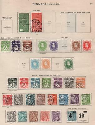 DENMARK: 1929-1935 Examples - Ex-Old Time Collection - 2 Sides Page (20566)