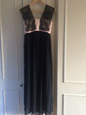 ASOS Maternity Maxi Dress With Lace Overlay ~ 6 UK ~ Black/Nude ~ BNWT