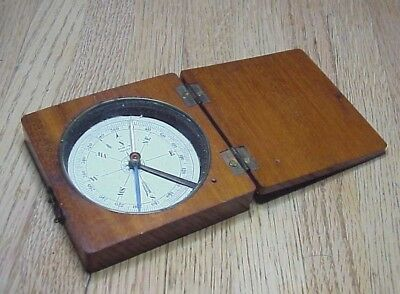 CIVIL WAR WOOD CASED COMPASS w/ LID PICTURED IN LORD'S