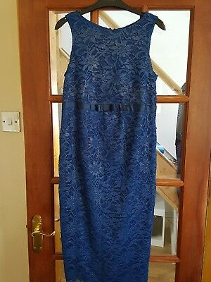 Ladies Asos Maternity Blue Lace Dress, Size 8, VGC (Christmas Party)