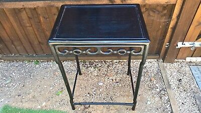 Chinese hardwood scroll ebonized side table ornate simple yet very elegant item