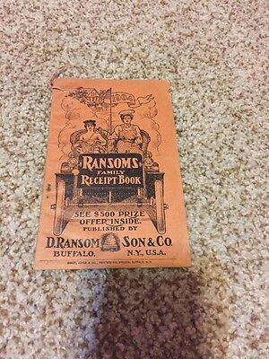1904 Ransoms Family Receipt Book