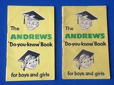 Editions 1 & 2 Of The Andrews Do-you-know Vintage Books For Boys And Girls
