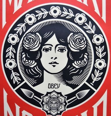 Shepard Fairey - OBEY - Make Art Not War - Signed and Dated Poster