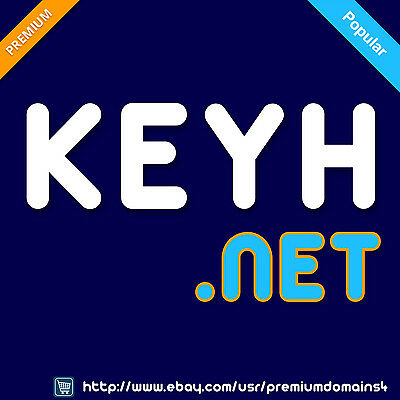 KEYH .net - Premium Short 4 Letter LLLL Brandable Domain Name