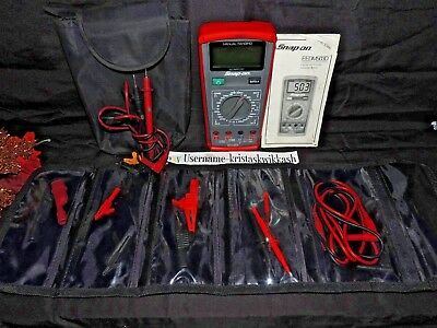Snap-On Digital Advanced Manual Ranging Multimeter with EXTRAS!!  EEDM503D