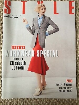 The Sunday Times Style Magazine Elizabeth Debicki Cover Fashion Workwear Special