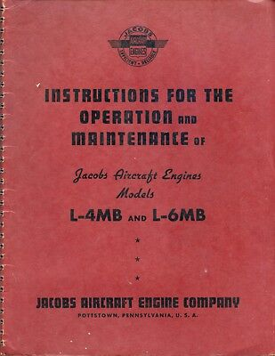 Instructions For The Operation And Maintenance Of Jacobs Aircraft Engines Models