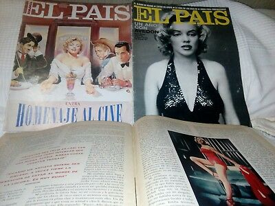 Marilyn Monroe lot 3 mags magazines very rare cover Spain mag making of MISFITS