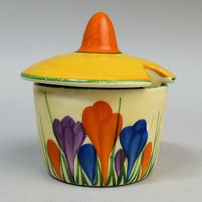 Clarice Cliff Art Deco Bizarre Crocus Mustard Pot C.1930