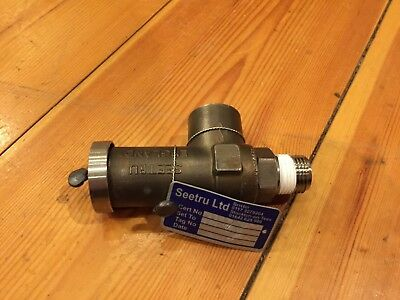"Seetru DN4 Safety Relief Valve, Stainless Steel, 350 Bar, 1/2"", RRP £471"