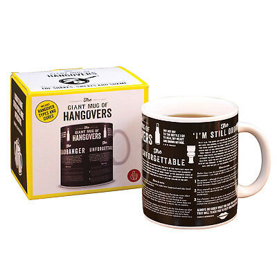 Thumbs Up Giant Mug Of Hangovers - Coffee Cup with Hangover Types and Cures