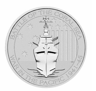 2015 1/2 oz Silver Battle of the Coral Sea | Imperfect | Free Ship on 3+ Items