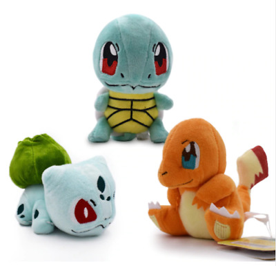 Pokemon Plush Set Lot Charmander Bulbasaur Squirtle New GUARANTEED DELIVERY
