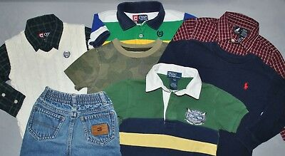 e90ef907 Ralph Lauren Tommy Hilfiger Gap Size 12-24 Months Lot of 8 Baby Boy Clothes