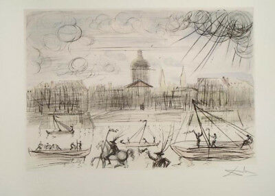 Salvador Dali Academy Of France Limited Edition Art Lithograph