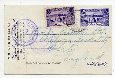1940 Persia To England Cover, Double Censor Russia Cancels, Franking