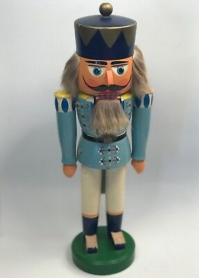 "Vintage Original Erzgebirge Wooden Nutcracker 13"" Gdr Germany Handcrafted Guc"