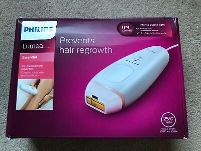 NEW Philips Lumea Essential Portable IPL Hair Removal BRI861/00